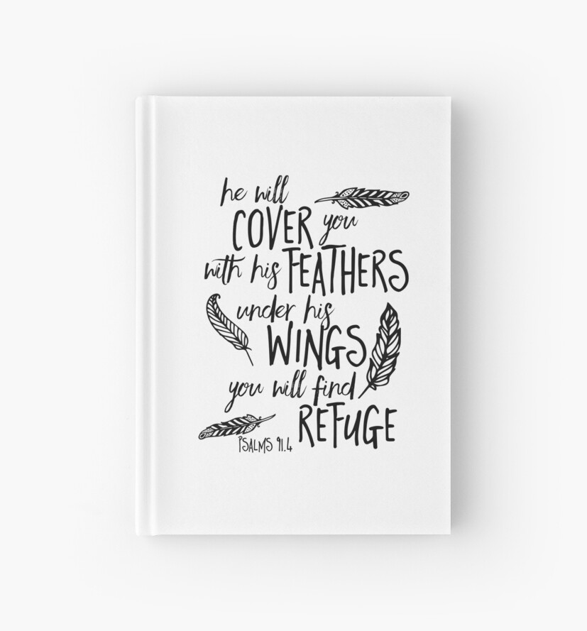 He will Cover You Feathers Bible Verse by Marcee Duggar
