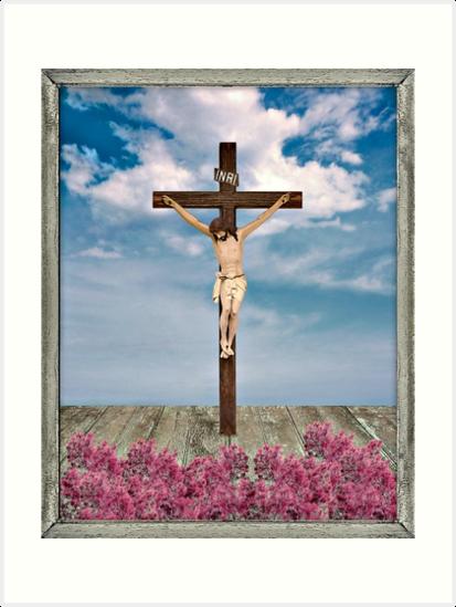 Jesus on the Cross Illustration by DFLC Prints