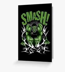 SMASH! Greeting Card