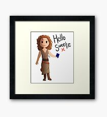 Hello Sweetie River Song Framed Print