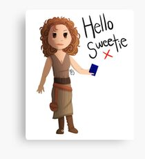 Hello Sweetie River Song Canvas Print