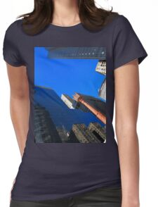 New York City Skyscrapers Womens Fitted T-Shirt