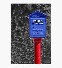 Police Telephone Photographic Print