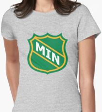 Minnesota Old School Crest Women's Fitted T-Shirt