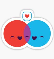 Diagramme d'amour Sticker