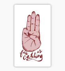 fire is catching Sticker