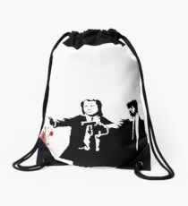 Pulp Fiction Drawstring Bag