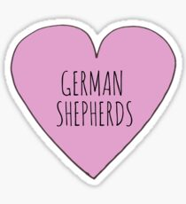 GERMAN SHEPHERD LOVE Sticker