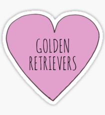 GOLDEN RETRIEVER LOVE Sticker