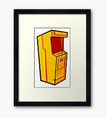 Arcade, Orange Framed Print