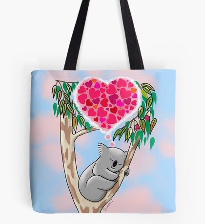 Koala in love Tote Bag