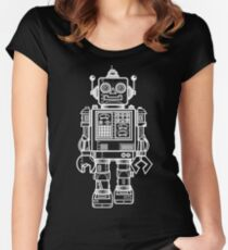 Vintage Toy Robot V2 Women's Fitted Scoop T-Shirt