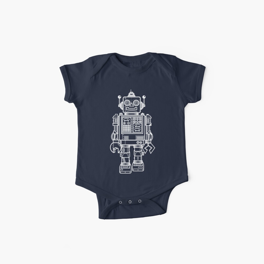 Vintage Toy Robot V2 Baby One-Pieces