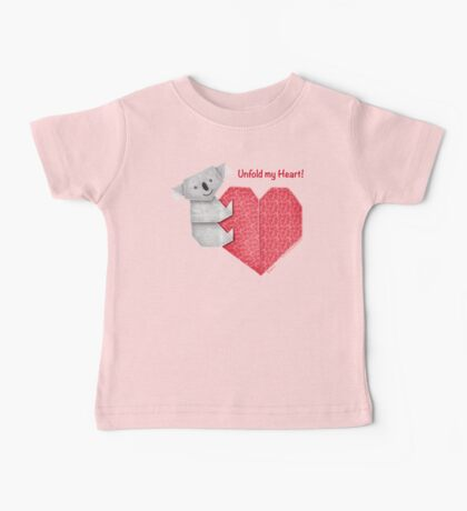 Unfold My Heart! Cuddly Koala and Heart Origami Kids Clothes