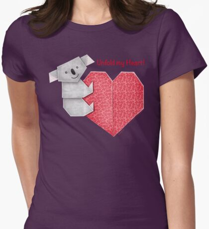 Unfold My Heart! Cuddly Koala and Heart Origami T-Shirt