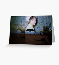 35mm Found Slide Composite - Piano Tree Greeting Card
