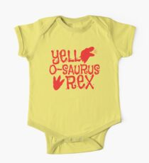 Yell-o-saurus REX! with cute dinosaur in red One Piece - Short Sleeve