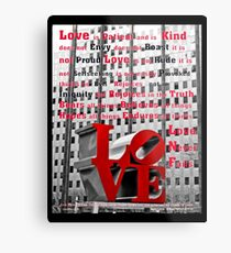 Loves Meaning Metal Print