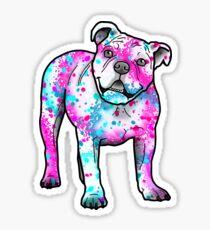 American Bulldog in Watercolor Splash Sticker