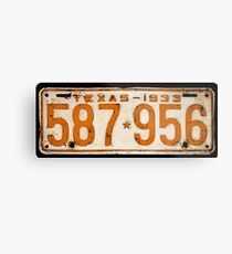 Bonnie & Clyde License Plate (detailed reconstruction) Metal Print