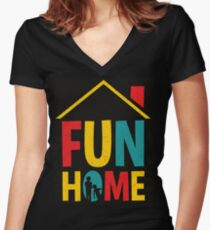Fun Home Logo Women's Fitted V-Neck T-Shirt