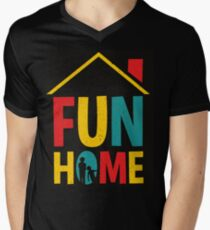 Fun Home Logo Men's V-Neck T-Shirt