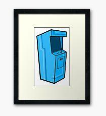 Arcade, Blue Framed Print