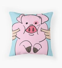 Squishy Waddles - Blue Throw Pillow