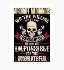 aircraft mechanic Car Mechanic T Shirts aircraft mechanic Auto Mechani Art Print