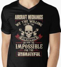 aircraft mechanic Car Mechanic T Shirts aircraft mechanic Auto Mechani Men's V-Neck T-Shirt