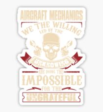 aircraft mechanic Car Mechanic T Shirts aircraft mechanic Auto Mechani Sticker
