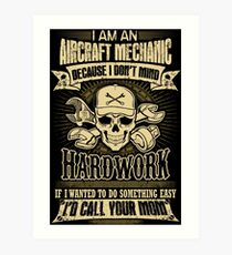 aircraft mechanic car mechanic t shirts auto mechanic t shirts Art Print
