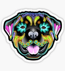 Rottweiler - Day of the Dead Sugar Skull Dog Sticker