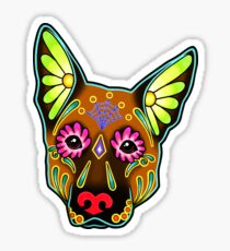 Day of the Dead German Shepherd in Brown Sugar Skull Dog Sticker