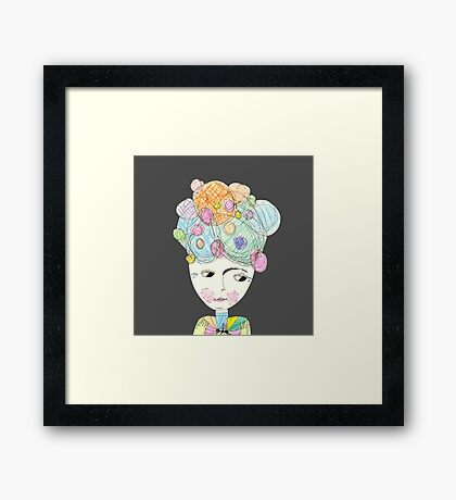 Madame Moonage - a tribute to David Bowie (charcoal) Framed Print
