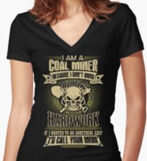 coal miner christmas coal miner christmas coal miners baby Retro coal  Women's Fitted V-Neck T-Shirt