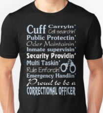 correctional officer retired Correctional Officer Inspired T Shirts co T-Shirt