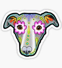 Day of the Dead Whippet / Greyhound Sugar Skull Dog Sticker