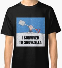 I SURVIVED TO SNOWZILLA Classic T-Shirt