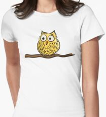 Cute owl Womens Fitted T-Shirt
