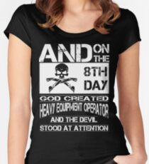 Arm Vector Cold Tower Background heavy equipment operators  Bolt  Women's Fitted Scoop T-Shirt