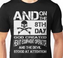 Arm Vector Cold Tower Background heavy equipment operators  Bolt  Unisex T-Shirt