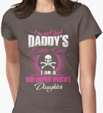 Background Cold sexy heavy equipment operator Heavy Equipment Operator Womens Fitted T-Shirt