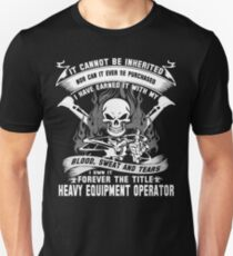 heavy equipment operator Animated Bolt Vector heavy equipment operator Unisex T-Shirt