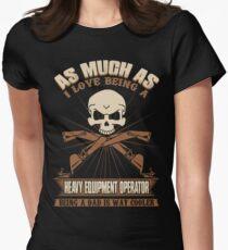 Heavy Equipment Operator Tshirts heavy equipment operator Animated sex Women's Fitted T-Shirt