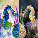 Rainbow Seahorse Inverted Refllection by Elisabeth Dubois