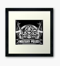 military police dog military police officers military police corps mil Framed Print