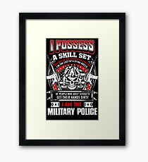 military police love military police vietnam military police girlfrien Framed Print
