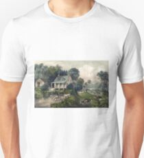 American homestead summer - Currier & Ives - 1868 Unisex T-Shirt