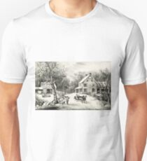 American homestead winter - Currier & Ives - 1868 Unisex T-Shirt